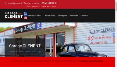 Site internet de Garage Clement