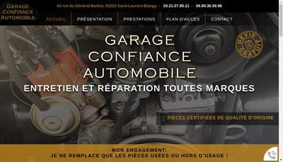Site internet de Garage Confiance Automobile