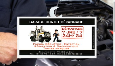 Site internet de Garage Curtet Depannage