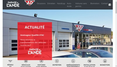 Site internet de Garage de la Lande