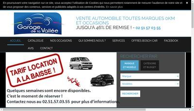 Site internet de Garage de la Vallee