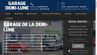 Site internet de Garage de la Demi Lune Adrp