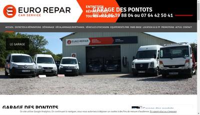 Site internet de Garage des Pontots