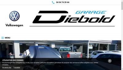 Site internet de Garage Diebold