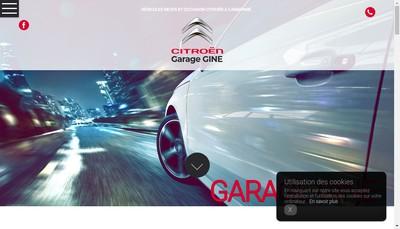 Site internet de Garage Gine Gaillagot