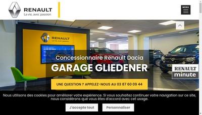 Site internet de Garage Gliedener