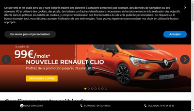 Site internet de Garage Hoel