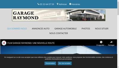 Site internet de Garage Raymond