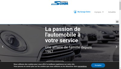 Site internet de Garage Sohm