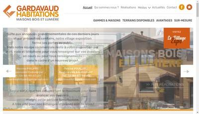Site internet de Gardavaud Constructions