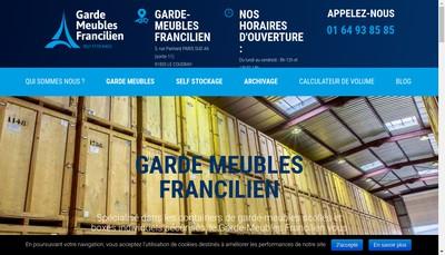 Site internet de Garde Meubles Francilien
