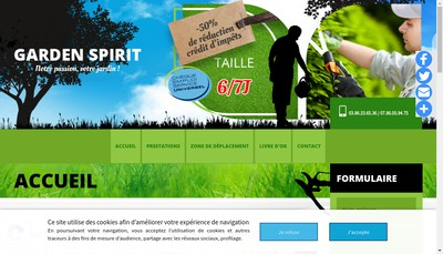 Site internet de Garden Spirit