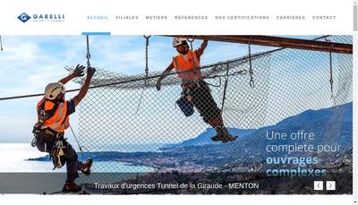 Site internet de Groupe Garelli