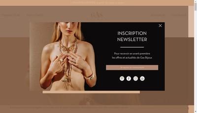Site internet de Gas Bijoux By Marie