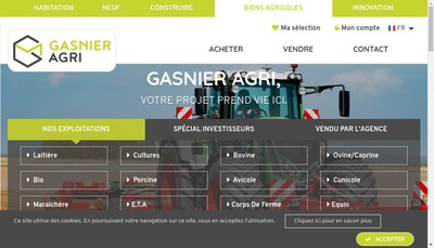 Site internet de Gasnier Agri