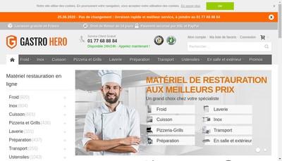 Site internet de Gastrohero