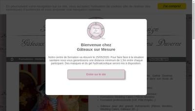 Site internet de Gateaux sur Mesure