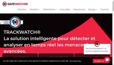 Site internet de Gatewatcher