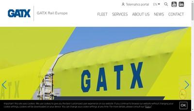 Site internet de Gatx Rail France