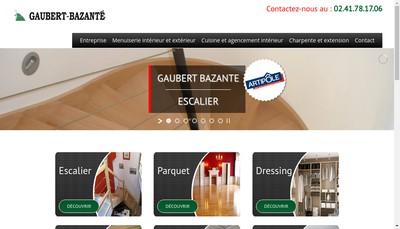 Site internet de SARL Menuiserie Gaubert Bazante