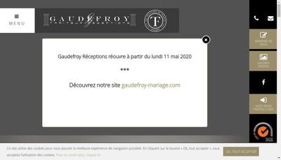 Site internet de Gaudefroy Reception