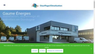 Site internet de Gaume Energies