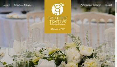 Site internet de Gauthier Traiteur
