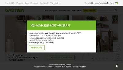 Site internet de Meubles Gautier