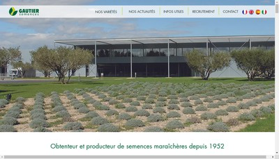 Site internet de Gautier Semences