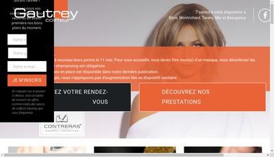 Site internet de Gautrey Coiffure