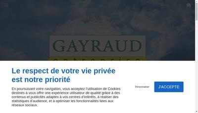 Site internet de Gayraud Entreprise