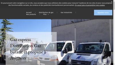 Site internet de Gaz Express Distribution
