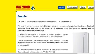 Site internet de Gaz 2000 : Entretien, Dépannage Chaudière, PAC, Climatisation
