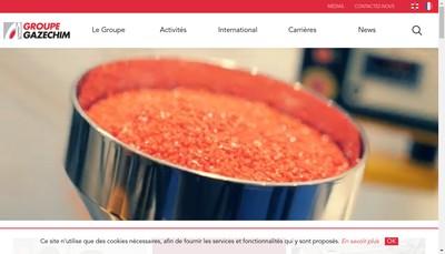 Site internet de Gazechim Composites