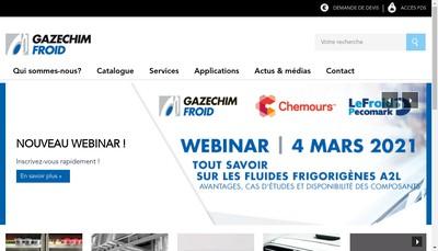 Site internet de Gazechim Froid
