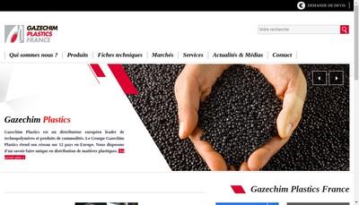 Site internet de Gazechim Plastics France