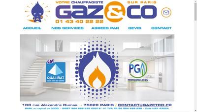 Site internet de Gaz et Co