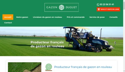 Site internet de Gazon Duguet