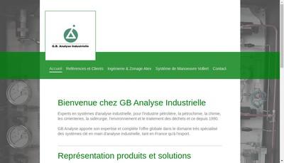 Site internet de GB Analyse Industrielle