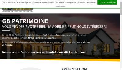 Site internet de Gb Patrimoine