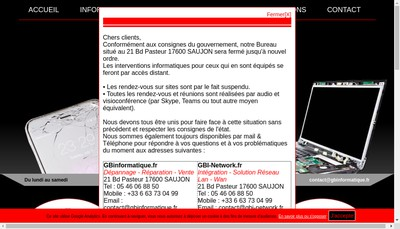 Site internet de Gbi-Network It