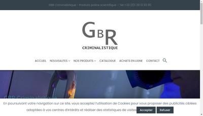 Site internet de Gbr Criminalistique
