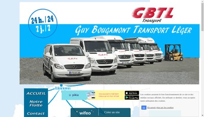 Site internet de GBTL Transports