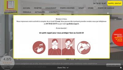 Site internet de Generation Confort de l'Habitat