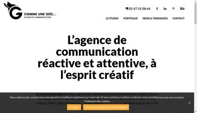 Site internet de G Comme une Idee