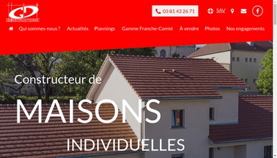 Site internet de Gd Constructions