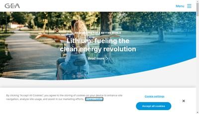 Site internet de Gea Food Solutions France SAS