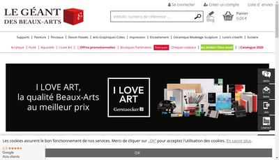 Site internet de Gerstaecker Lyon le Geant des Beaux Arts