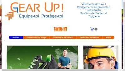 Site internet de Gear Up
