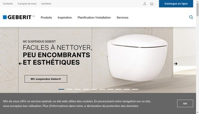 Site internet de Geberit